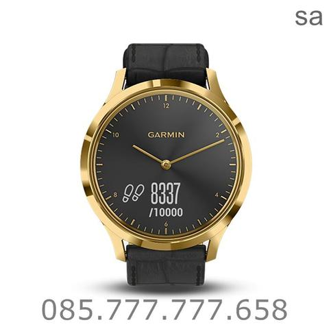 Garmin Vivomove HR Premium Gold Black 010-01850-9C - Jam Tangan