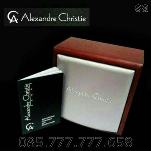 Jam Tangan Wanita Alexandre Christie 9225 Original LED Digital -Silver