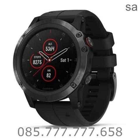 Garmin Fenix 5X Plus Sapphire Carbon Gray 010-01989-60 Rubber Black