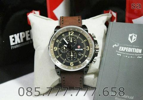 JAM TANGAN JAM TANGAN EXPEDITION E6681 SILVER BROWN. GARANSI RESMI