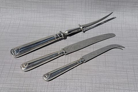 Carving set 1977 English Sterling Silver Cooper Bros & Sons kolektor item
