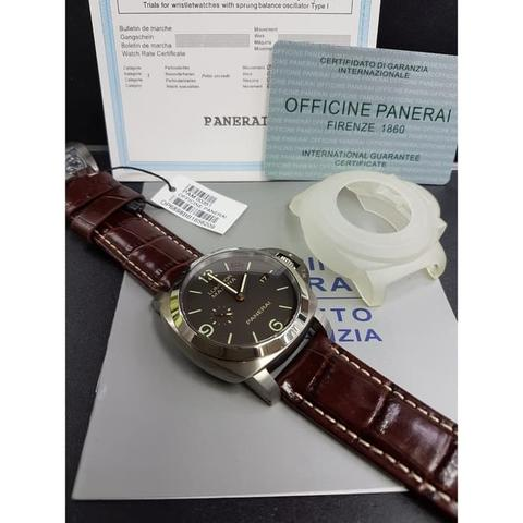 PANERAI PAM351 P ZF 1:1 BEST EDITION ON BROWN LEATHER STRAP P9000