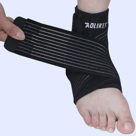AOLIKES Pelindung Engkel Tumit Ankle Support Sport Fitness Protection - Black