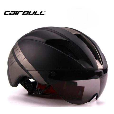 CAIRBULL Helm Sepeda Magnetic Removable Lens - Size L - Black/Gray