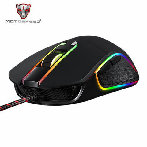 MOTOSPEED Optical Gaming Mouse Macro with RGB Backlight - Black