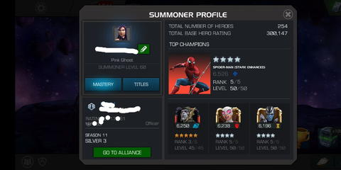 ID (Akun) Marvel Contest Of Champions