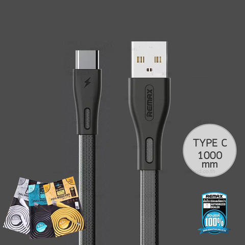 Remax Full Speed Pro Kabel Charger USB Type C - Black