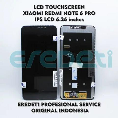 Lcd redmi note 6 pro + pasang