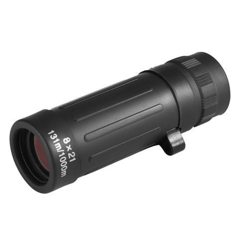 Compact Huting Monocular Telescope 8 x 21 Zoom - Black