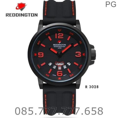 God Seller. Jam Tangan Redington R3028 Original Black Dial Red