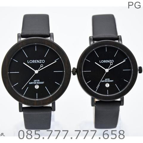 Jam Tangan COUPLE Lorenzo 1049 ORIGINAL LEATHER SERIES #1