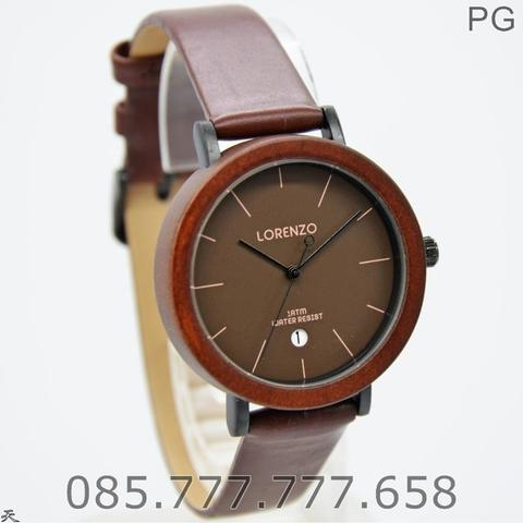 Jam Tangan COUPLE Lorenzo 1049 ORIGINAL LEATHER SERIES #3