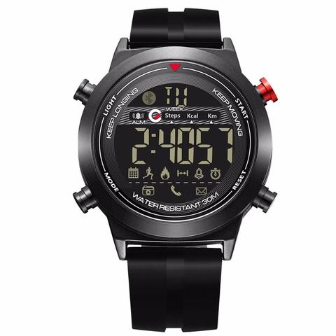 JeiSo Jam Tangan Digital Smartwatch - Black