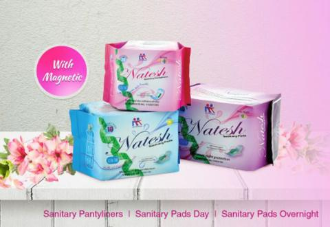 Natesh Sanitary Pads with Magnetic