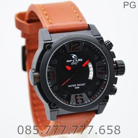 Best Seller Jam Tangan Pria RipCurl RC7169 LEATHER MURAH GAYA #4