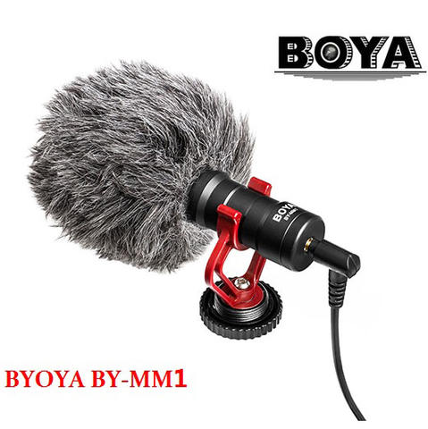 Boya Shotgun Microphone for Smartphone & DSLR - Black