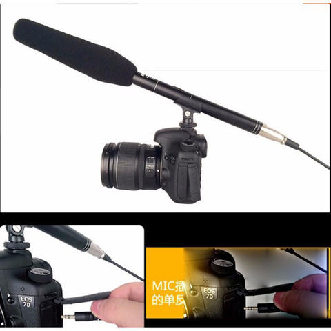 BUB DSLR Shotgun Microphone Uni-Directional - Black