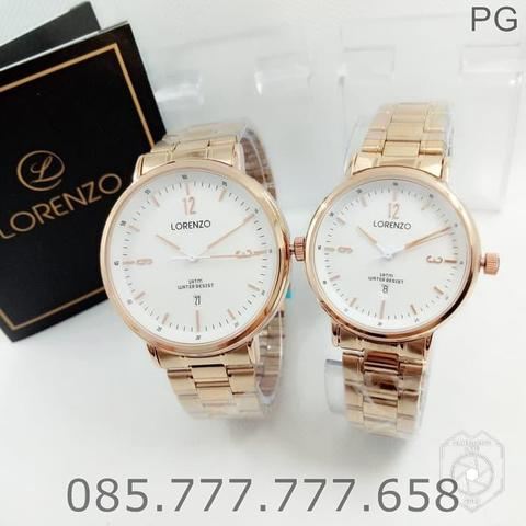 Jam Tangan COUPLE Lorenzo 1025 Original STAINLESS #7