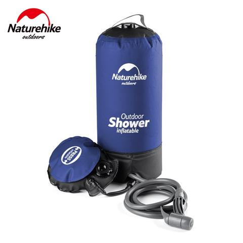NatureHike Shower Outdoor Inflatable Water Bag 11L - Blue
