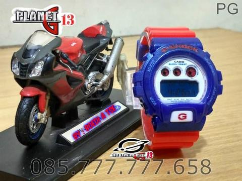 New Available Jam Tangan Sporty Pria / Cowok DW 6900 Blue Red