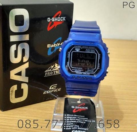 New Available Jam Tangan Sporty Pria / Cowok GLS-5600 Transparan Blue