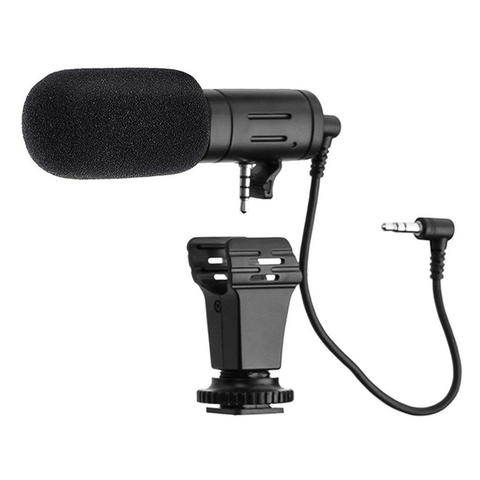 MAMEN Camera DSLR Shotgun Microphone 3.5mm - Black