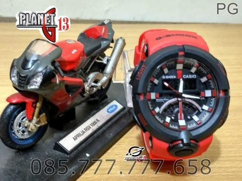 New Available Jam Tangan Sporty Pria / Cowok GA-500 Big Size Red