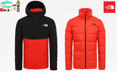 TNF THE NORTH FACE MENS MOUNTAIN LIGHT INNER OUTER 2019 SIZE XL FIERY RED