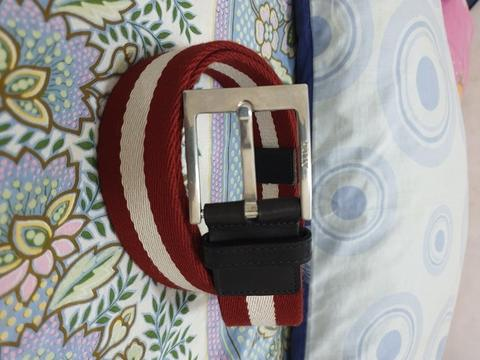 Bally Ifonti Red canvas belt original not hermes bottega salvatore prada