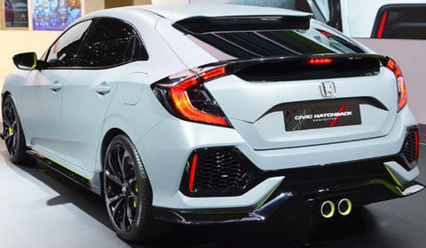 WANT TO BUY - CIVIC TURBO HATCHBACK WHITE/BLACK THN 2018