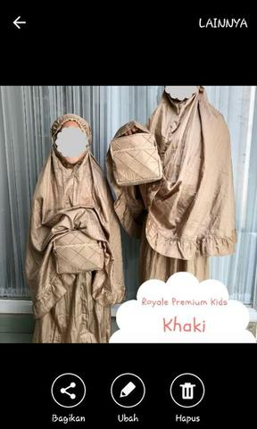 Mukena parasut kids KHAKI by Royale Premium Kids