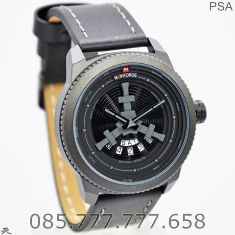 Jam Tangan Pria Naviforce / NF 9156MB Original Gray + Box