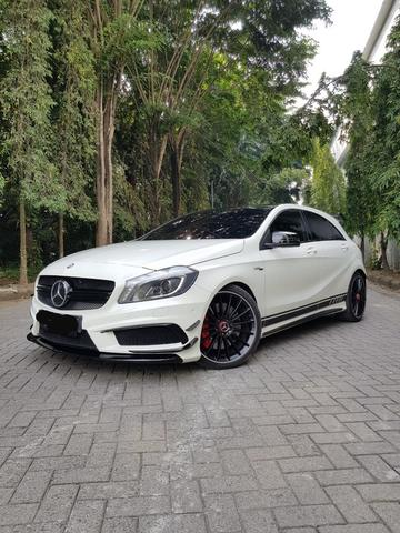 MERCEDES BENZ A45 AMG EDITION 1 WHITE ON BLACK 2013/2014