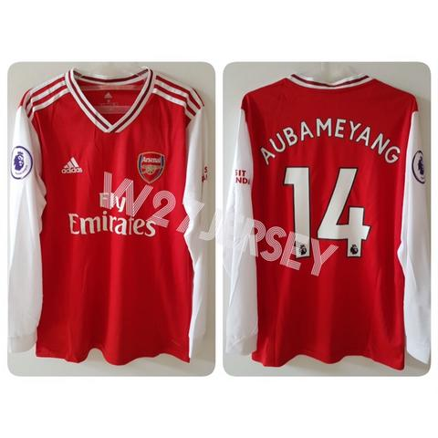 Jersey Arsenal Home, Away, 3rd 2019/2020 name player Aubameyang + Patch EPL