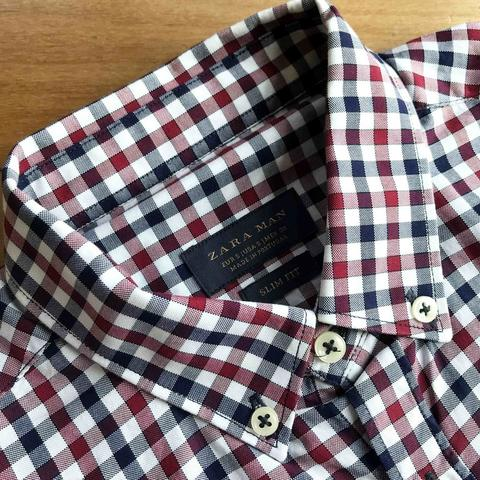 Zara Man Red Gingham Shirt