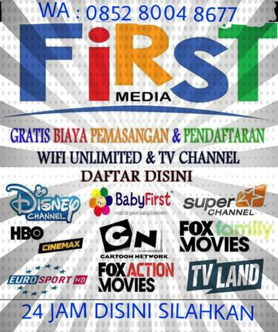 PAKET INTERNET WiFi FIRSTMEDIA TERBARU JABODETABEK UNLIMITED FIRST MEDIA