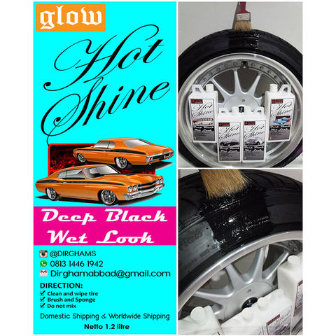PROMO Semir Ban Mobil Best Seller Gel Bening Hot shine HITAM kilap