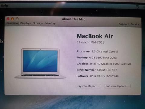 MacBook Air (11-inch, Mid 2013)