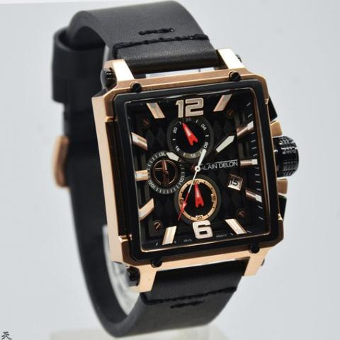 Jam Tangan Pria Alain Delon AD417 Leather ( Kulit ) Original Murah