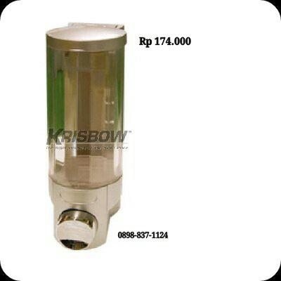 Tempat Sabun Soap Dispenser 400ML Single Silver Krisbow KW2001247