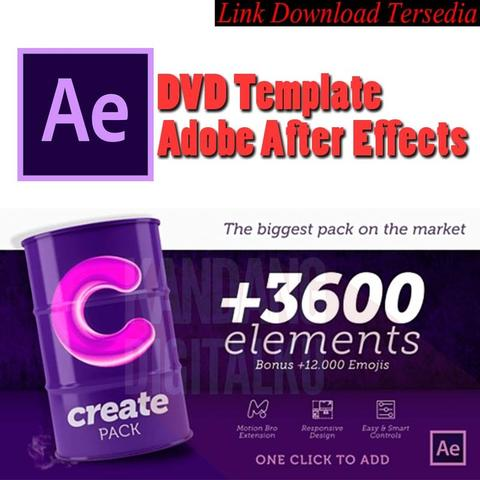Videohive +3600 Elements Create Pack Template After Effects