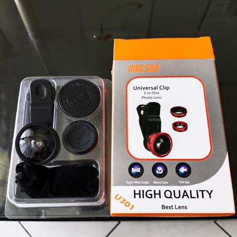 Macson Universal Clip 3 in 1 Photo lens (for smartphones)