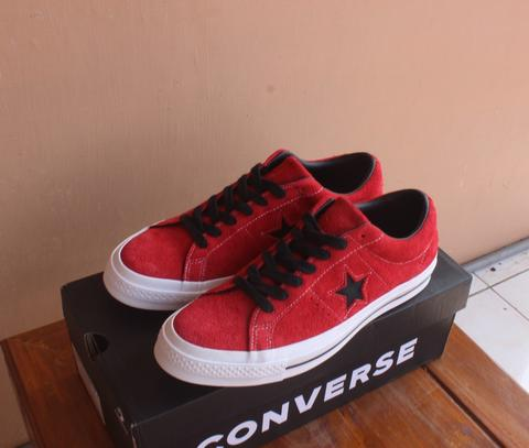 Converse Original One Star Dark Star Vintage 45th Anniv Suede Enamel Red Ox