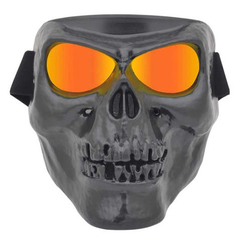 HEONYIRRY Topeng Masker Motor Airsoft Gun Full Face Skull Ghost Raider
