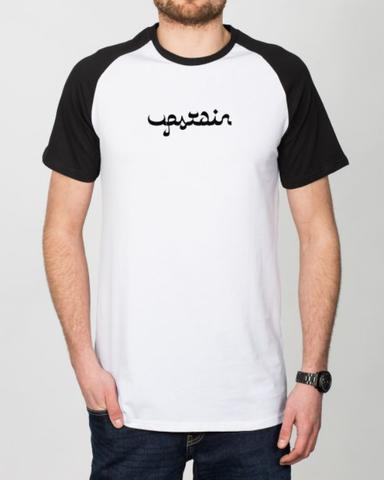 Kaos Raglan Pendek Arabic Design Merek Upstain Wear