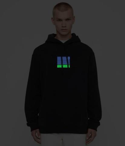Jaket Hoodie Glow In The Dark Dua Warna Keren Merek Upstain Wear