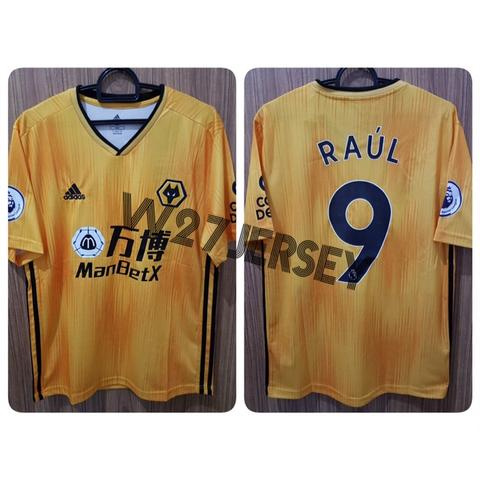 Jersey Wolverhampton Home 2019/2020 name player Raul, Cutrone + Patch EPL