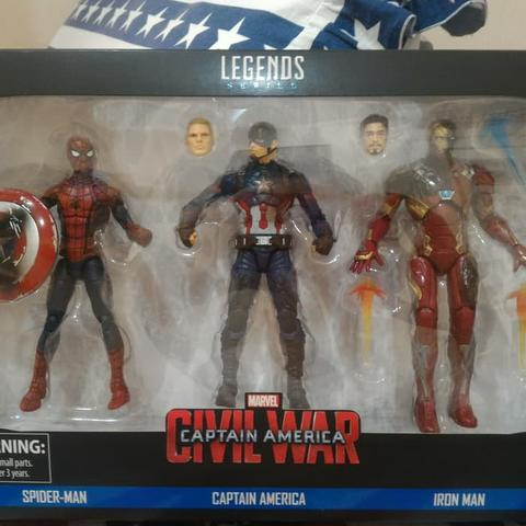 Marvel Legends 3-Pack : SpiderMan , Captain America , Iron Man
