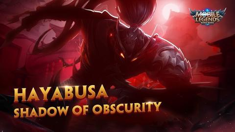 SKIN MOBILE LEGENDS HAYABUSA SHADOW OF OBSCURITY ( SKIN EPIC HAYABUSA )