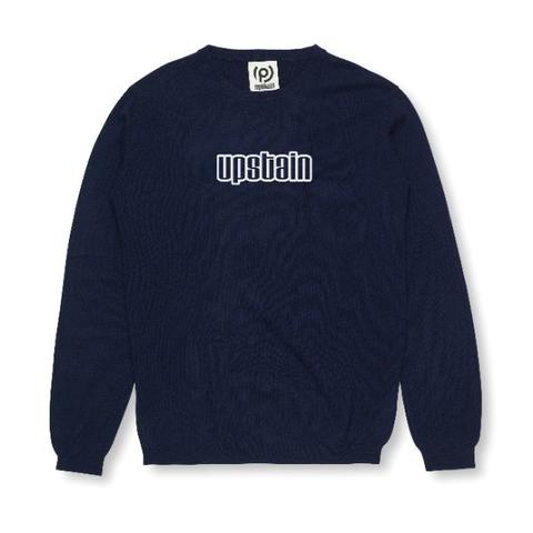 Upstain Wear Navy Sweater Glow Blue In The Dark